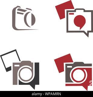 Ensemble d'icône de l'appareil photo instantané ou signer isolées. La photographie numérique Collection Logo pour le Web, design, publicité, impression Banque D'Images