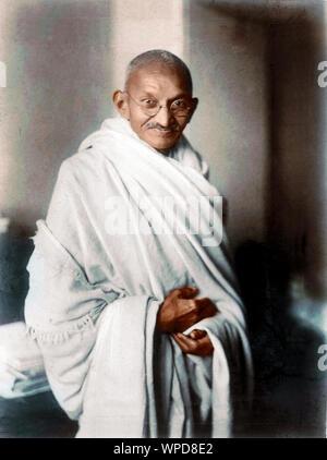 Rare photographie de Mahatma Gandhi prises à Londres, 1931 Banque D'Images