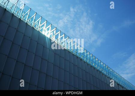 L'architecture moderne des détails géométriques. Abstrait architecture fond. Banque D'Images