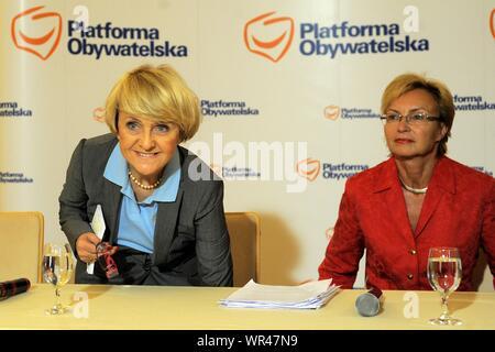 21.05.2009 Varsovie, Pologne. Sur la photo: Danuta Hubner, Lena Kolarska Bobinska Banque D'Images