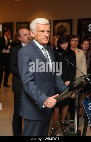 12.04.2011 Bruxelles, Belgique. Sur la photo: Jerzy Buzek Banque D'Images