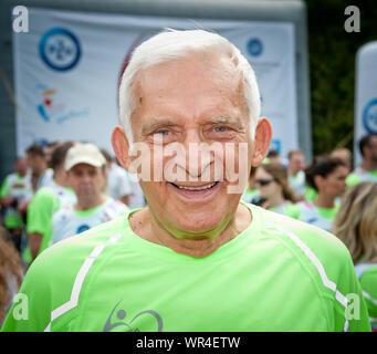 5.09.2015 Varsovie, Pologne. Sur la photo: Jerzy Buzek Banque D'Images