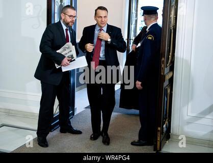 24. 01. 2014 Varsovie, Pologne. Sur la photo: Radoslaw Sikorski Banque D'Images