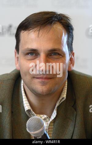 10.05.2007 Radoslaw Sikorski, la promotion de son livre. Varsovie, Pologne Banque D'Images