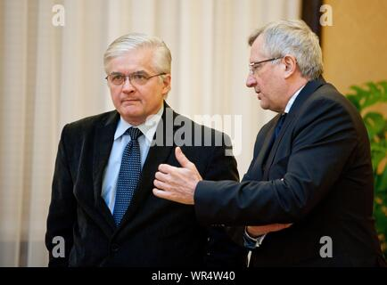2. 03. 2014 Varsovie, Pologne. Sur la photo: Wlodzimierz Cimoszewicz Banque D'Images