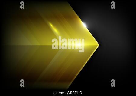 Or l'élément sombre et chevauchement abstract background vector illustration eps10 Banque D'Images
