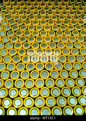 Full Frame Shot de piles en usine Banque D'Images
