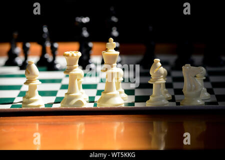 Pièces des échecs sur l'Échiquier