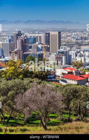 Centre-ville d'horizon, Cape Town, Western Cape, Afrique du Sud Banque D'Images