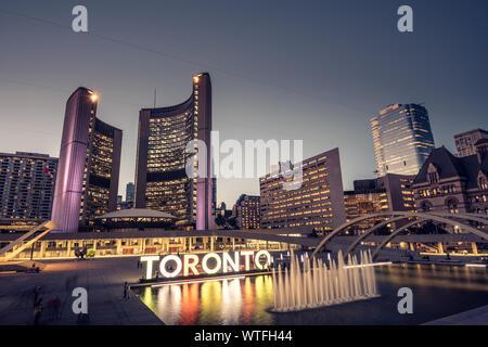 Les toits de la ville de Toronto, Canada