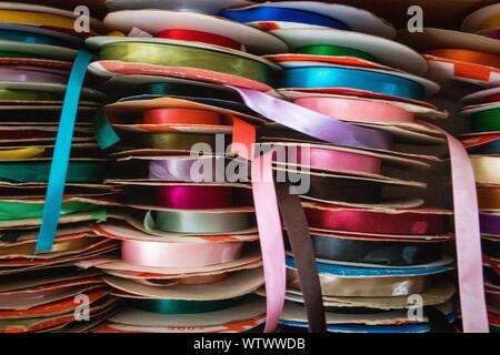 Rubans colorés au Shop au Guatemala Banque D'Images