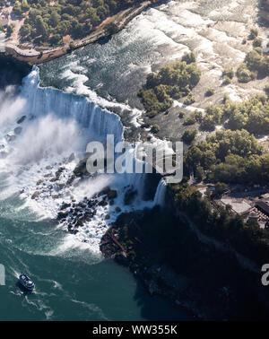 Vue aérienne de Niagara cascade. Banque D'Images