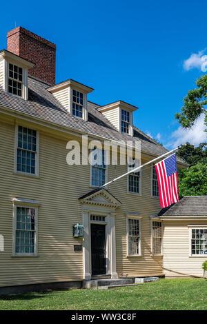 Taverne Buckman historique, Lexington, Massachusetts, USA.