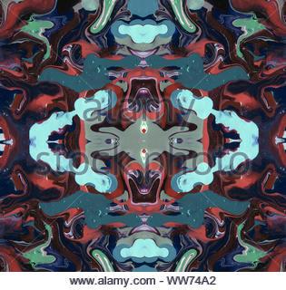 Kaléidoscope symétrique illustration. Beau design multicolore pour poster, carte, bannière. Les graphiques générés par ordinateur Banque D'Images