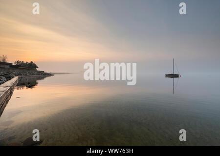 L'Europe, la Pologne, la Poméranie, Rewa, mer baltique, voile Banque D'Images