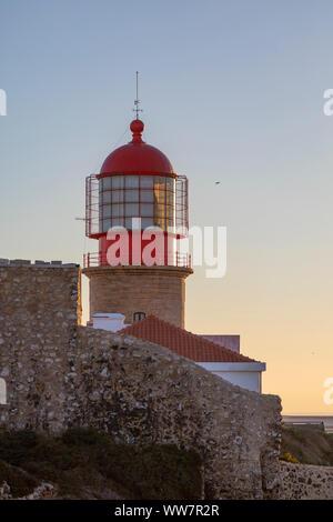 Portugal, Algarve, Lagos, phare Cabo de Sao Vincente