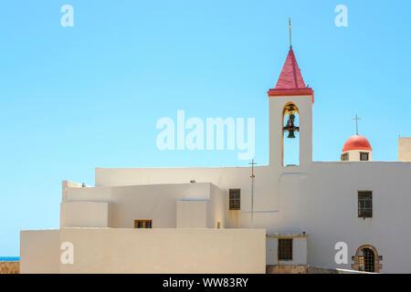 Israël, quartier Nord, Galilée, Acre (Akko). Eglise Saint-Jean-Baptiste dans la vieille ville. Banque D'Images