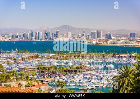 San Diego, Californie, USA cityscape sur la baie. Banque D'Images