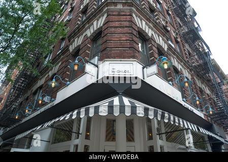 New York, NY - 14 septembre 2019 - Par Chloe un célèbre la nourriture végétarienne restaurants à ambiance décontractée et populaire dans le West village Banque D'Images