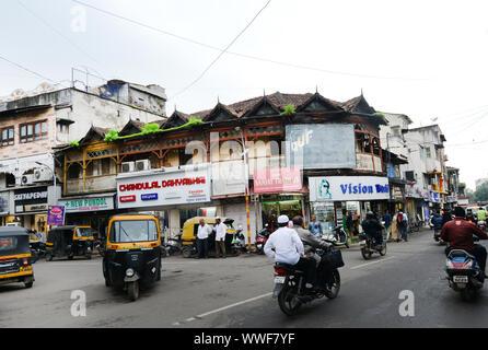 Beaux bâtiments anciens à Pune, en Inde. Banque D'Images