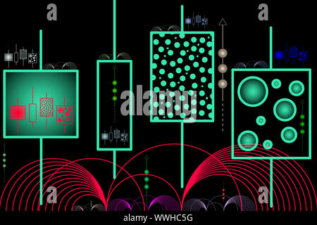 L'intelligence artificielle - l'apprentissage automatique - Abstract Illustration