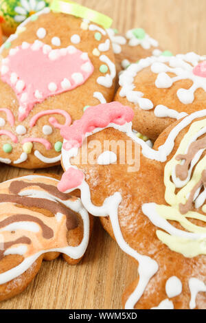 Close up of easter gingerbreads Banque D'Images