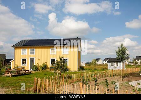 Un projet d'habitation écologique en Oosterwold Bolderburen, appelé, district de Almere, Flevoland, Pays-Bas. Les propriétaires ont choisi de Scandinavian Banque D'Images