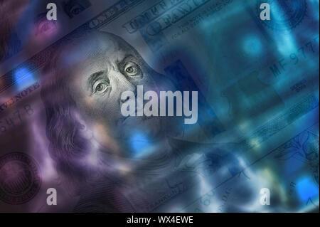 Projets de dollars. Close up l'argent comptant.