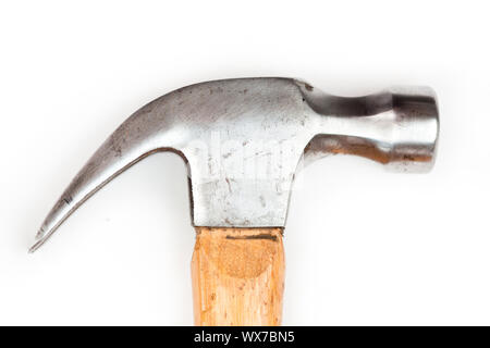 Close up of claw hammer sur fond blanc Banque D'Images