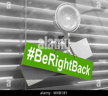 Hashtag bientôt de retour Banque D'Images