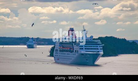 Les navires de croisière dans l'archipel de Stockholm