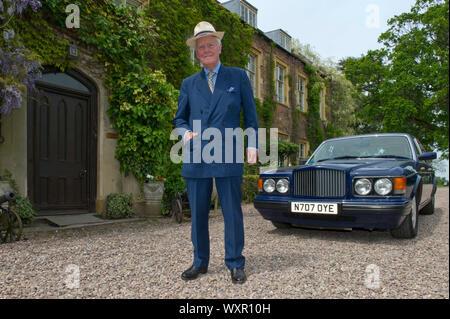 Sir Benjamin Slade, le 7ème.baronnet à son domicile, Maunsell House, Bridgwater, Somerset, UK Banque D'Images