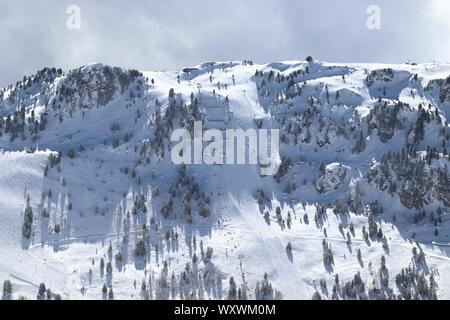 Autriche - Mayrhofen dans le Tyrol. Alpes centrale autrichienne. Fameux Harakiri noire. Banque D'Images