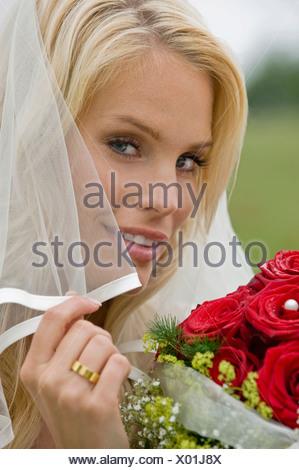 Little Flower, smiling, portrait, close-up Banque D'Images