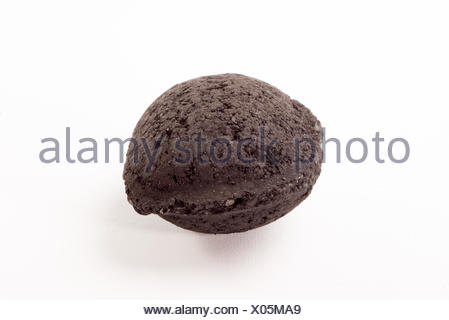 Seul morceau de charbon de bois Banque D'Images