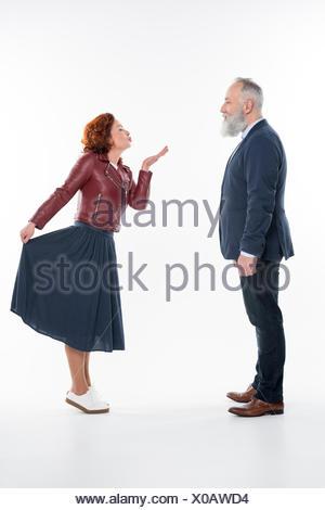 Belle mature couple Banque D'Images