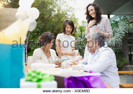 Present Femme Banque D'Images