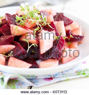 Salade de laitue,salade,betterave Banque D'Images