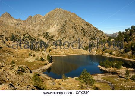 Lac de Trecolpas, France, Alpes, Alpes Maritimes, le Parc National du Mercantour Banque D'Images