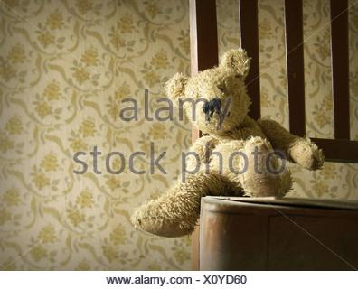 Chaise,laissant,teddy Banque D'Images