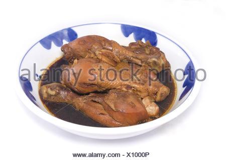 Pilons de poulet braisé asiatique Banque D'Images