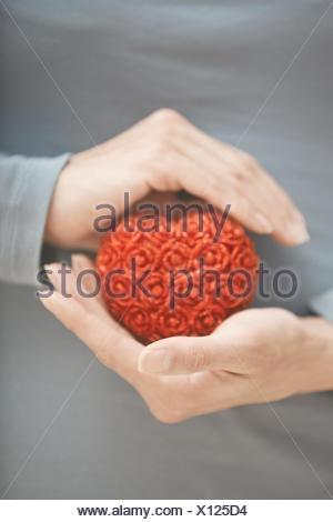 Coeur en mains Banque D'Images