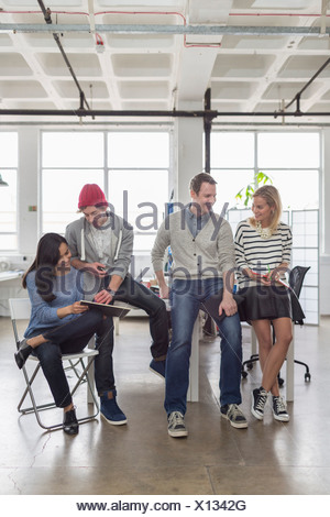 Creative Business team sitting together in office