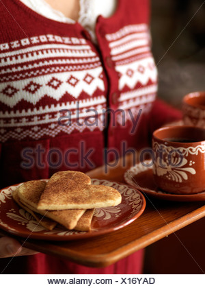 Les cookies à la cannelle, en Suède. Banque D'Images