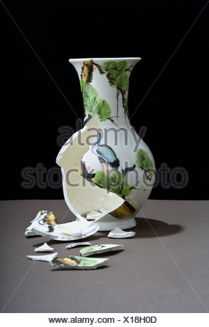 Un vase brisé Banque D'Images