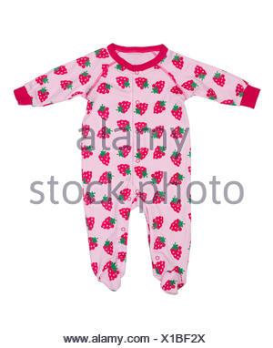 Des vêtements pour nouveau-nés avec motif fraises Banque D'Images