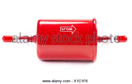 Nouveau filtre à carburant voiture rouge Banque D'Images