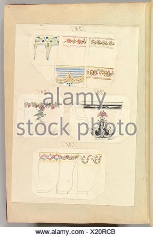 Dix modèles de tasses décorées, y compris l'Osborne. Artiste: Alfred Henry Forrester [Alfred Crowquill] (britannique, Londres 1804-1872 Londres); Banque D'Images