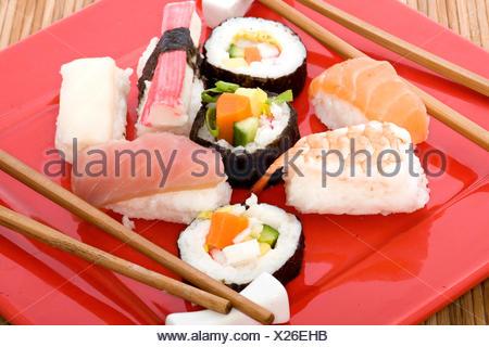 La cuisine asiatique,sushi,maki,nigri Banque D'Images