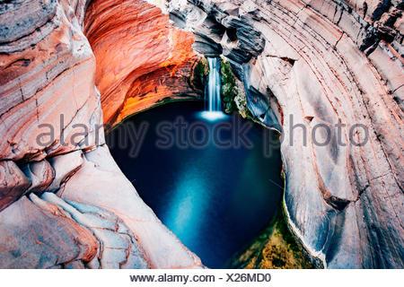 Hamersley Gorge, piscine thermale, parc national de Karijini, Nord Ouest, l'ouest de l'Australie
